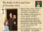 the battle of the lamp from a christmas story