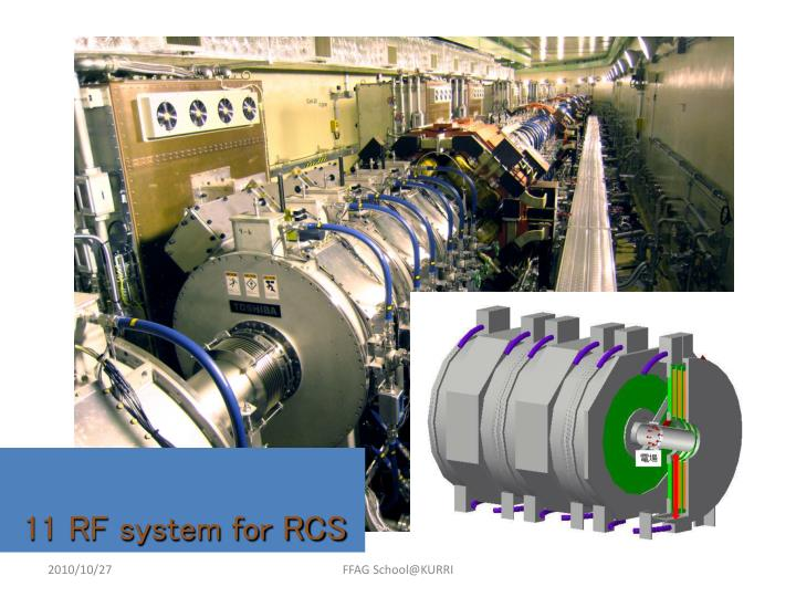 11 RF system for RCS