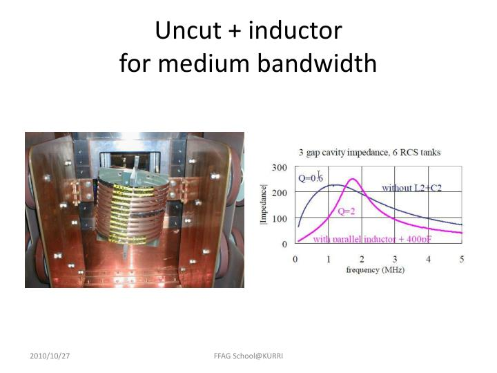Uncut + inductor