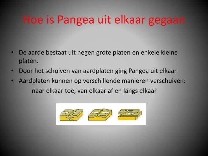 Hoe is Pangea uit elkaar gegaan