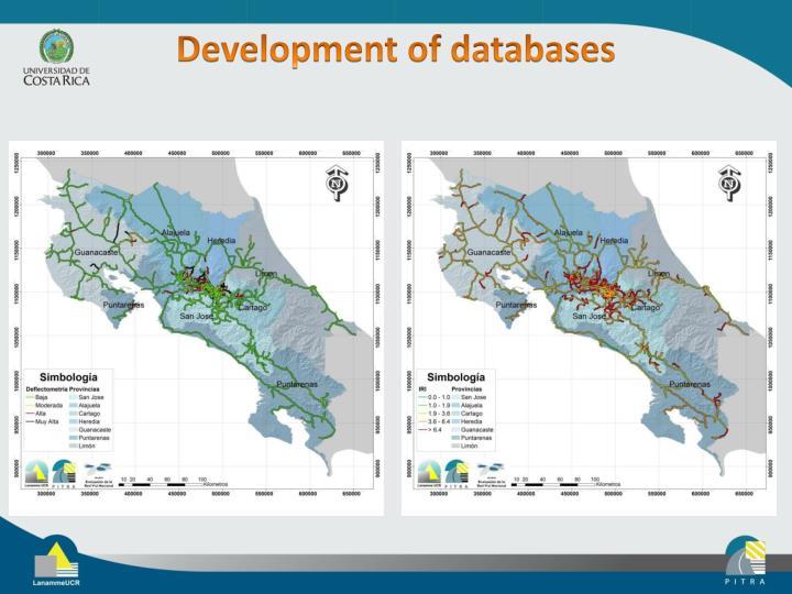 Development of databases