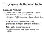 linguagens de representa o1