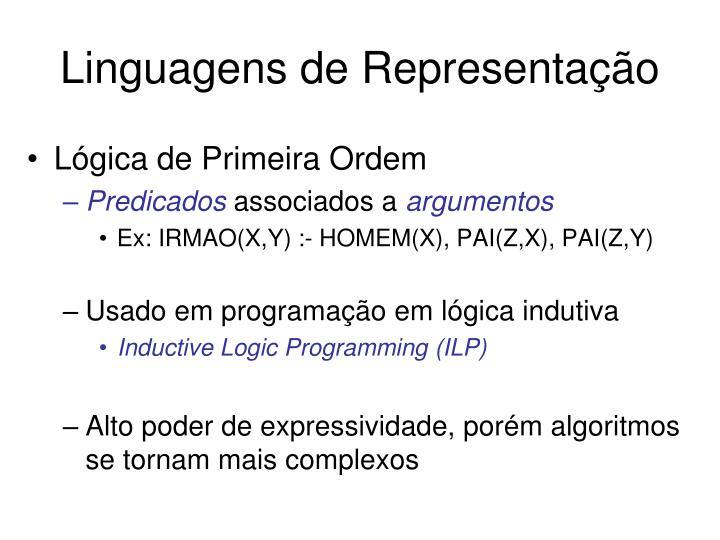 Linguagens de Representação
