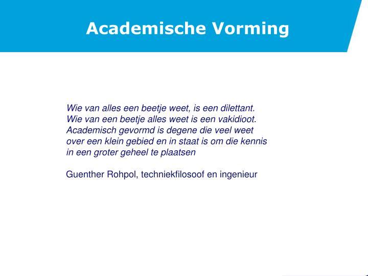 Academische Vorming