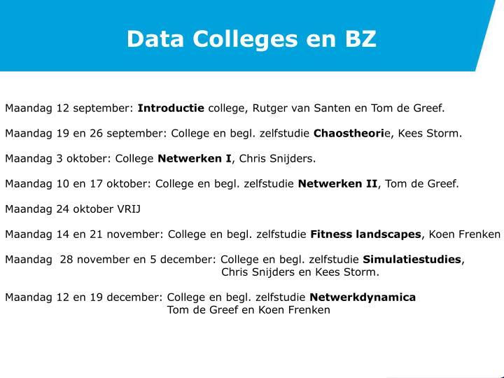 Data Colleges en BZ