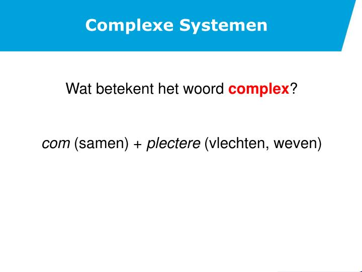 Complexe Systemen
