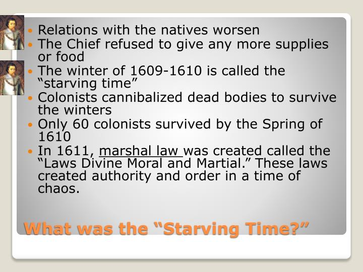Relations with the natives worsen