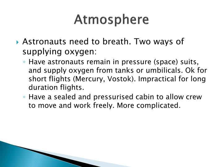 supply oxygen for astronauts - photo #30