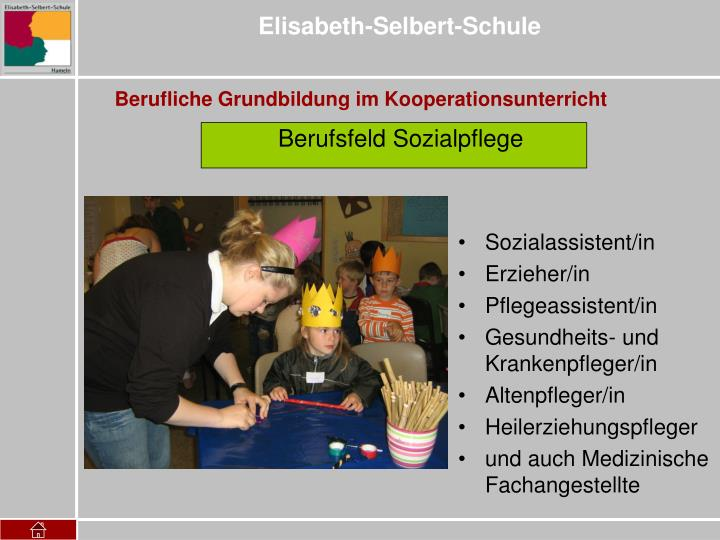 Berufsfeld Sozialpflege