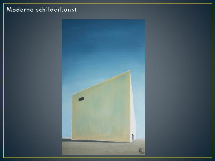Moderne schilderkunst