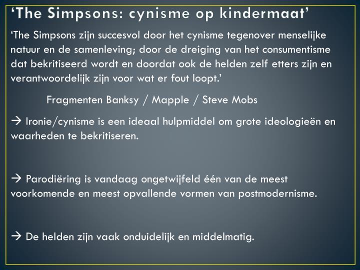 'The Simpsons: cynisme op kindermaat'