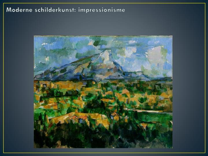 Moderne schilderkunst: