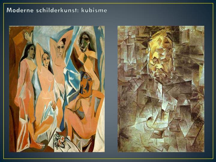 Moderne schilderkunst: kubisme