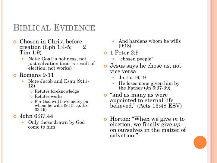 Biblical Evidence