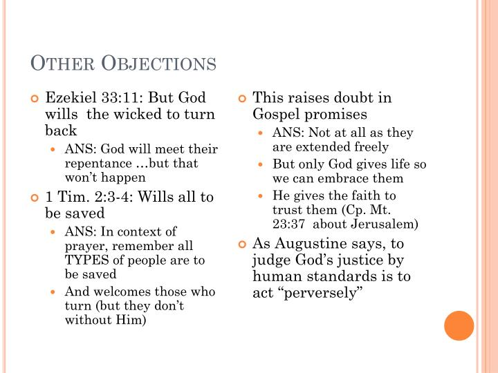 Other Objections