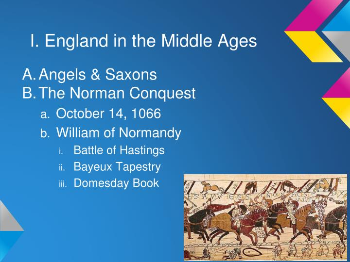 I. England in the Middle Ages
