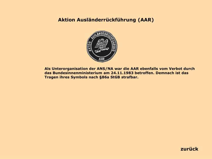 Aktion Ausländerrückführung (AAR)