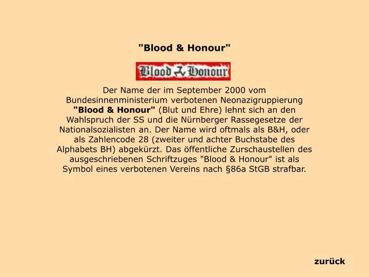 """Blood &"