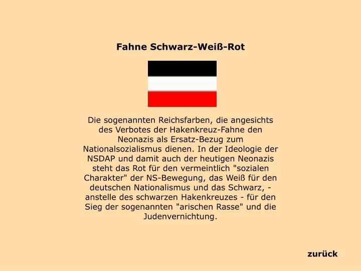 Fahne Schwarz-Weiß-Rot