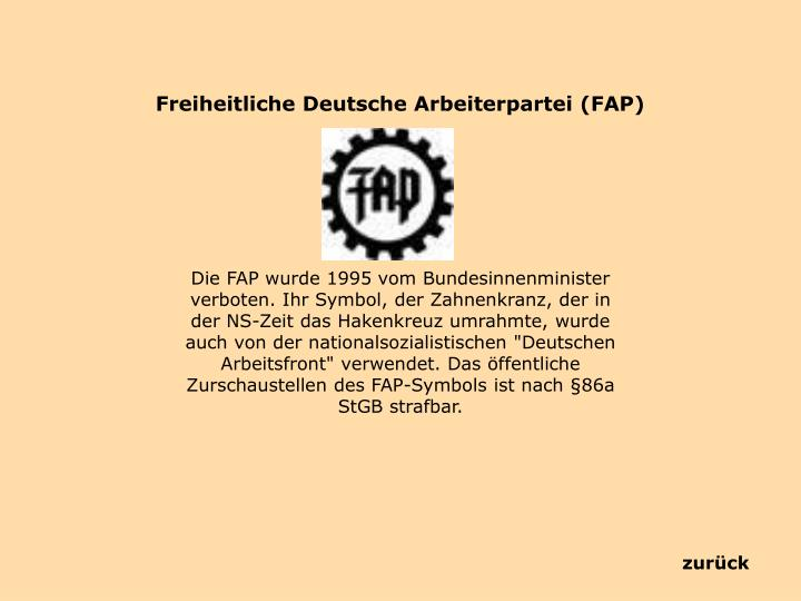 Freiheitliche Deutsche Arbeiterpartei (FAP)