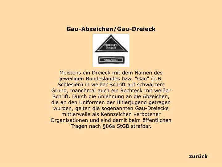 Gau-Abzeichen/Gau-Dreieck