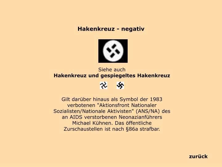 Hakenkreuz - negativ