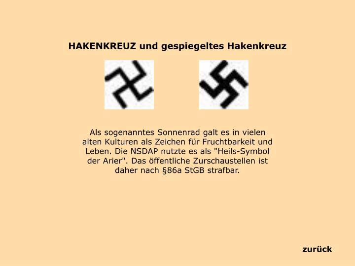 HAKENKREUZ und gespiegeltes Hakenkreuz
