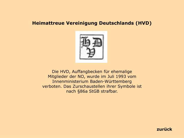 Heimattreue Vereinigung Deutschlands (HVD)