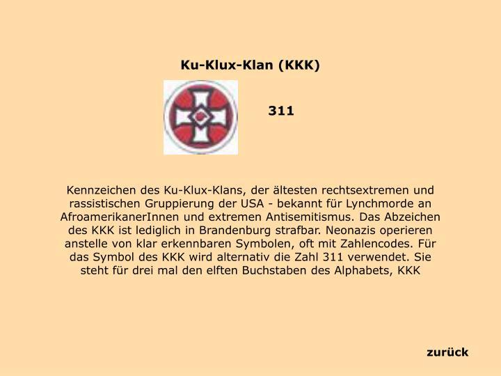Ku-Klux-Klan (KKK)