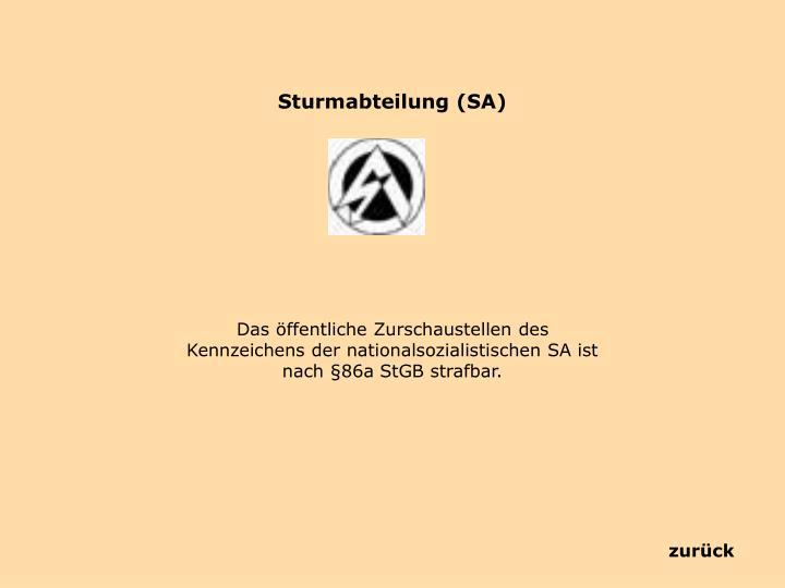Sturmabteilung (SA)
