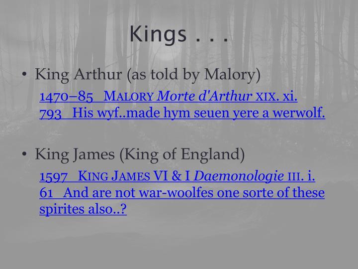 Kings . . .