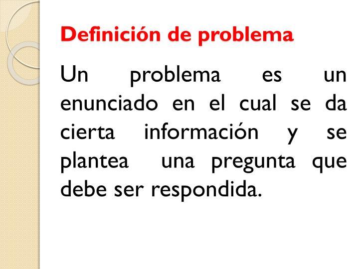Definición de problema