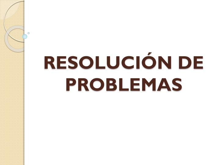 Resoluci n de problemas