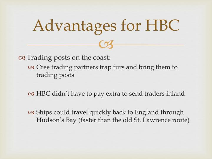 Advantages for HBC