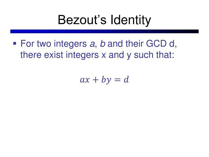 Bezout's