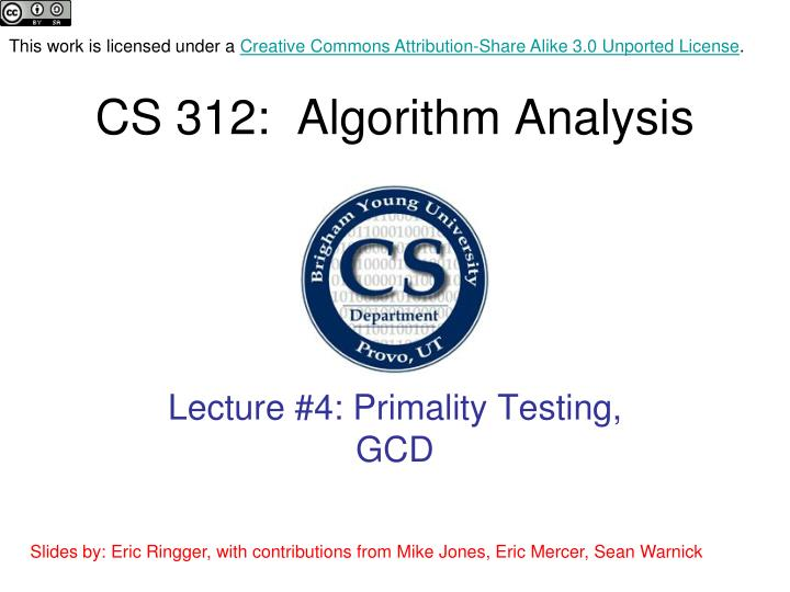 cs 312 algorithm analysis