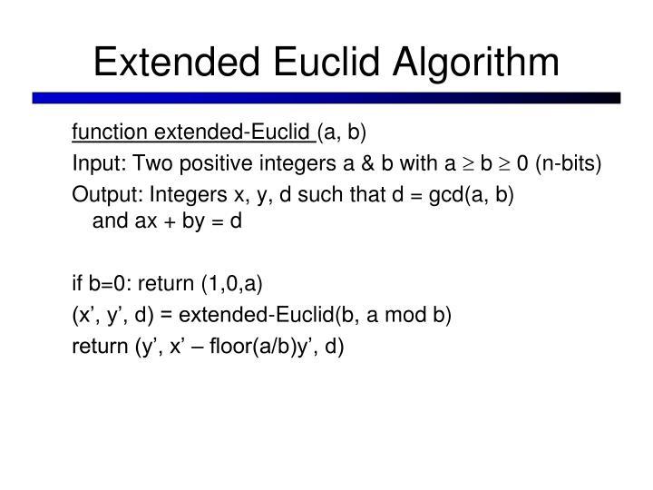 Extended Euclid Algorithm
