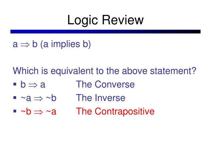 Logic Review