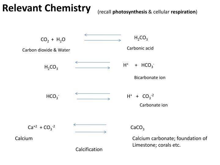 Relevant Chemistry
