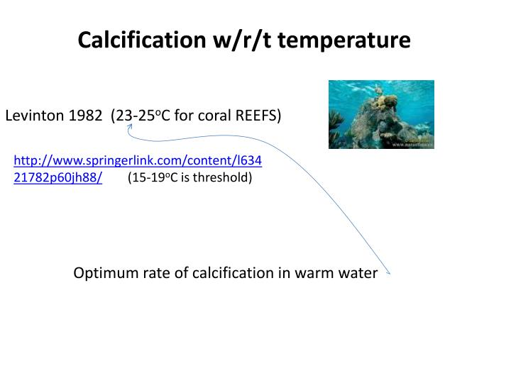 Calcification w/r/t temperature