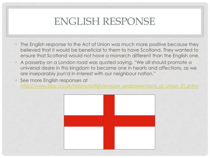 English Response