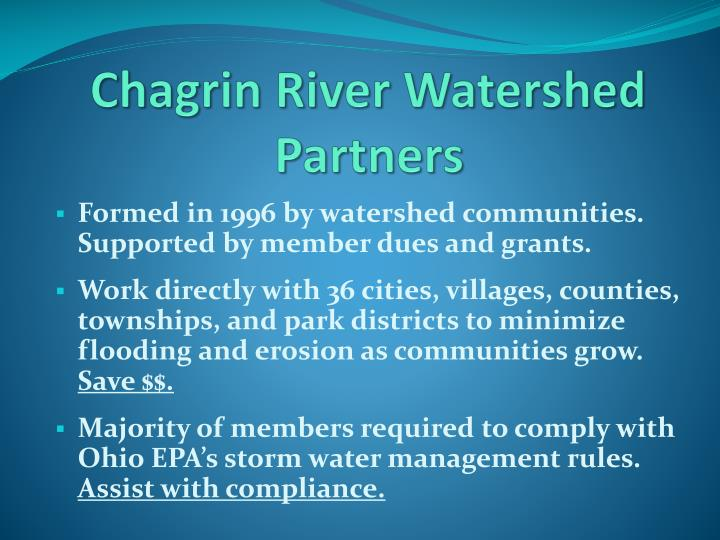 Chagrin River Watershed Partners