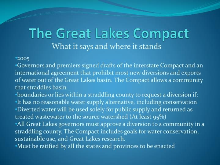 The Great Lakes Compact