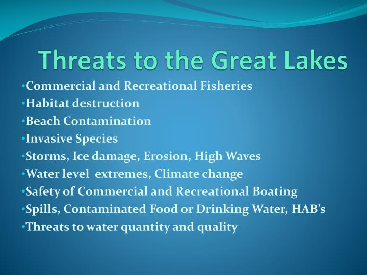 Threats to the Great Lakes