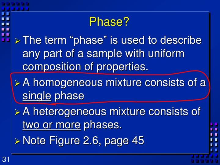 Phase?