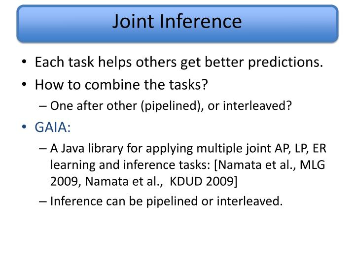 Joint Inference