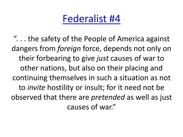 Federalist #4