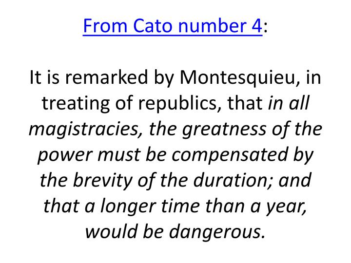 From Cato number 4
