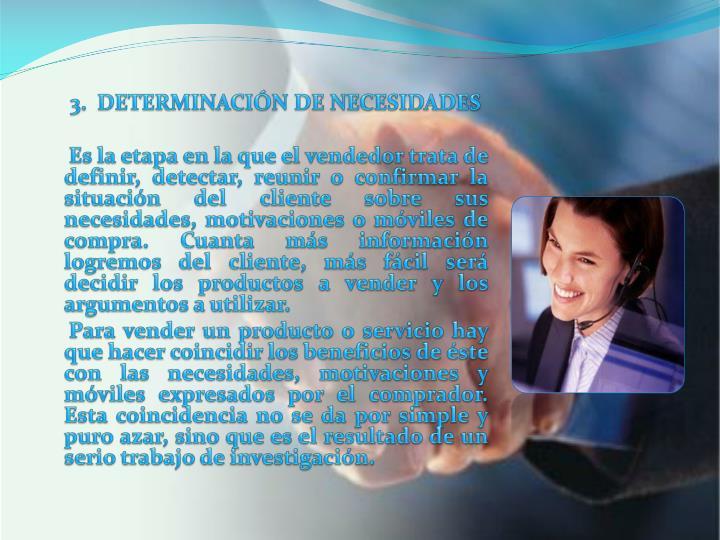 3.  DETERMINACIÓN DE NECESIDADES