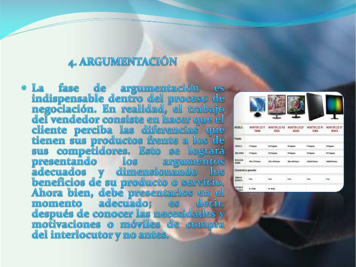 4. ARGUMENTACIÓN